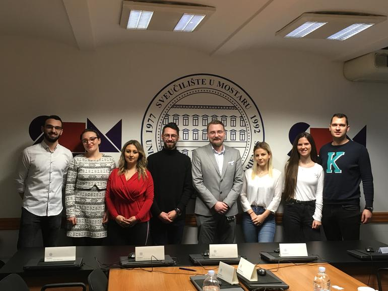 SDSN har flere ganger besøkt sine samarbeidsuniversiteter i Mostar