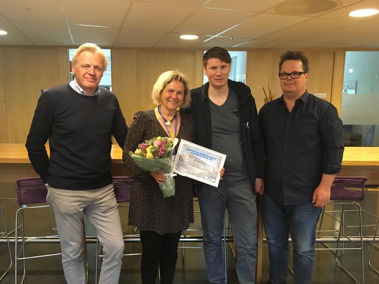 Trond Waage, Arnbjørg Engenes, Ole-Marius Refsnes og Bernt Andreas Hennum. FOTO