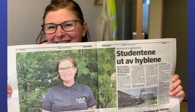 Fungerende campusleder Guri Nilsen inviterer til studentmesse FOTO