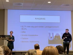 Nestleder Karoline og campusleder på Ringerike Jesper delte gode eksempler