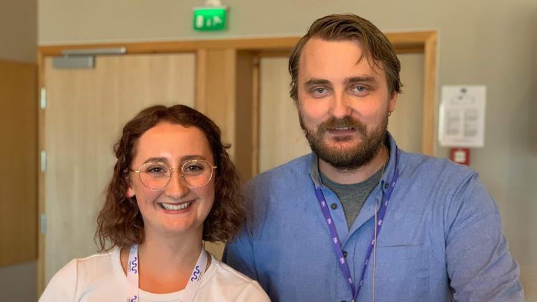 Karoline Lie og Kim Hellevammen