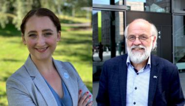 Studentleder Karoline Lie og rektor Petter Aasen FOTO